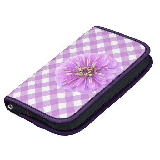 SmartPhone Folio - Lilac Zinnia on Lattice Folio Planner