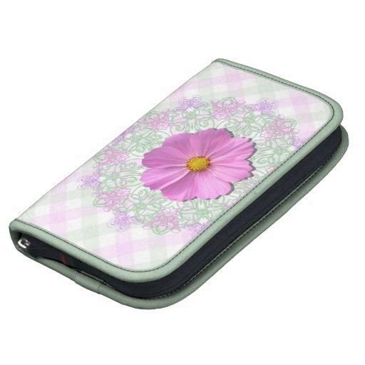 SmartPhone Folio - Med.Pink Cosmos on Lace & Latti Organizer
