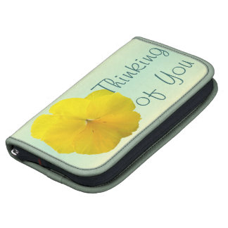 SmartPhone Folio - Pencilled Yellow Pansy Planners