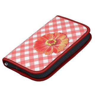 SmartPhone Folio - Red Zinnia on Lattice Planners