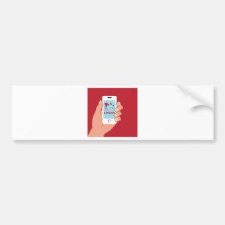 Smartphone vector Cinema App Bumper Sticker