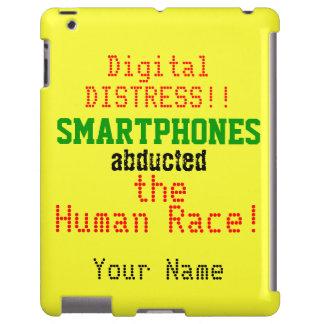 Smartphones Black Green Red Yellow Humor iPad Case