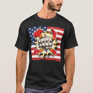 SMASH COMMUNISM Make America Great Again USA Flag T-Shirt