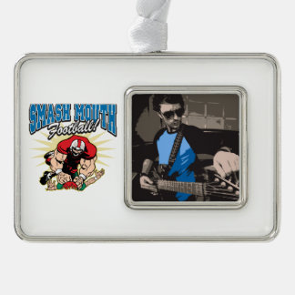 Smash Mouth Football Silver Plated Framed Ornament