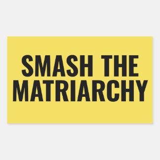 Smash the Matriarchy Rectangular Sticker