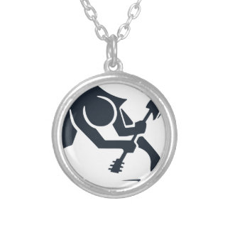 Smashing Guitar Silver Plated Necklace