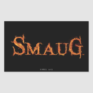SMAUG™ Name Graphic Rectangular Sticker