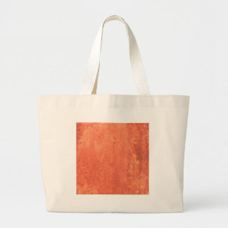 smear of orange large tote bag