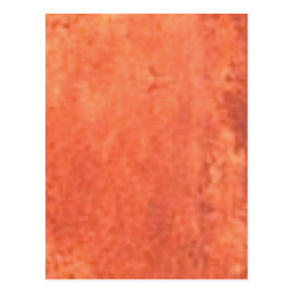 smear of orange postcard