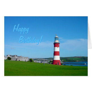 Smeaton s Tower Plymouth Hoe birthday card
