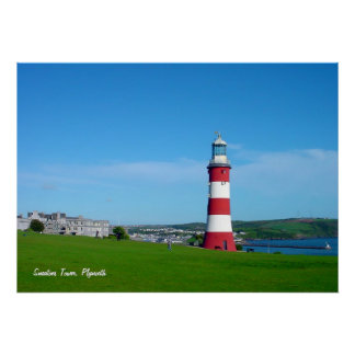 Smeaton s Tower Plymouth Hoe poster print