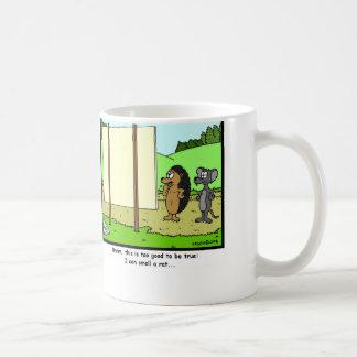 Smell a rat: Rat Cartoon Coffee Mug