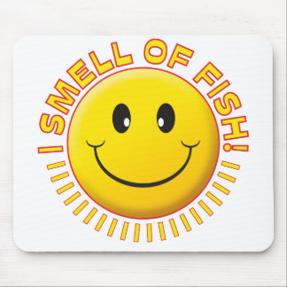 Smell Fish Smiley Mouse Pads