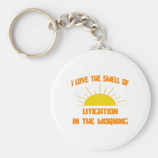 Smell of Litigation in the Morning Basic Round Button Key Ring