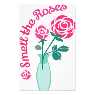Smell The Roses Customised Stationery