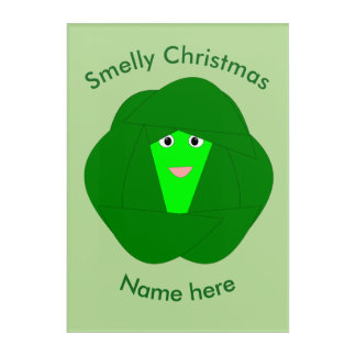 Smelly Christmas Brussels Sprout Acrylic Wall Art