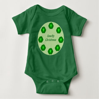 Smelly Christmas Brussels Sprout Custom Baby Bodysuit