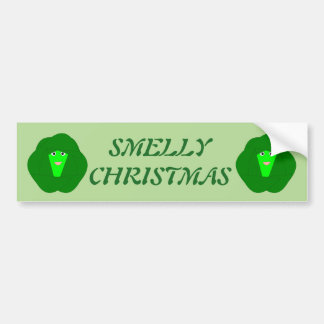 Smelly Christmas Brussels Sprout Custom Bumper Sticker