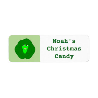 Smelly Christmas Brussels Sprout Custom Food Label Return Address Label