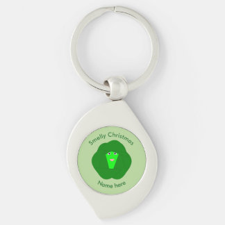Smelly Christmas Brussels Sprout Keychain