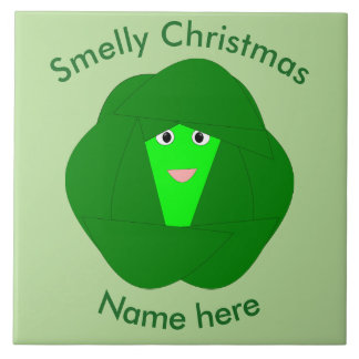 Smelly Christmas Brussels Sprout Tile