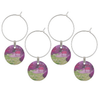 """Smeraldo Gallery """"Orchard Blossoms"""" Collectiom Wine Glass Charms"""