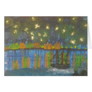 "Smeraldo Gallery""Starry Night on the Rhone"" Card"