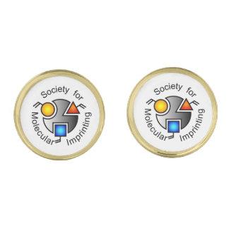 SMI logo round cufflinks gold Gold Finish Cuff Links