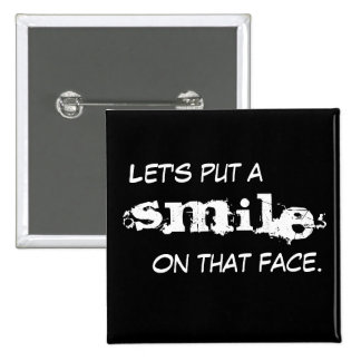 Smile 15 Cm Square Badge