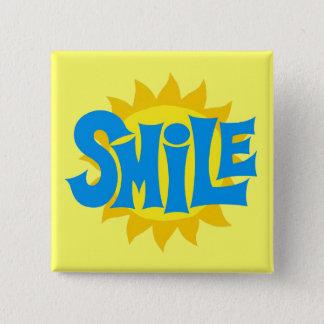 Smile 15 Cm Square Badge
