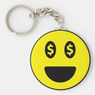 "Smile 2.25"" Basic Button Keychain"
