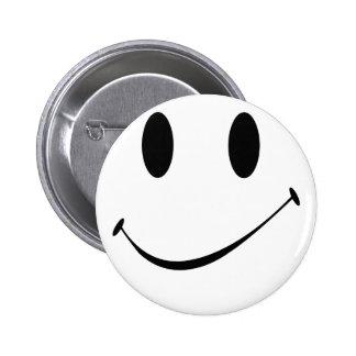 smile 6 cm round badge