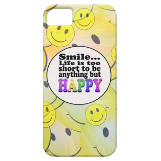 Smile and be Happy iPhone 5 Cases