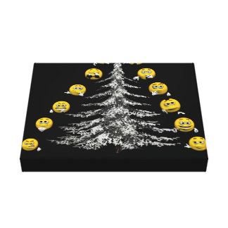 smile and firtree canvas print