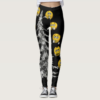 smile and firtree leggings