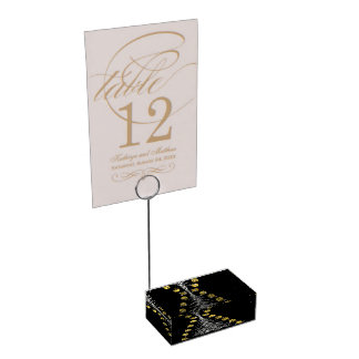 smile and firtree table number holder