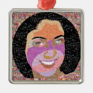 Smile and Kill :    Princess SONA Roopa Square Metal Christmas Ornament