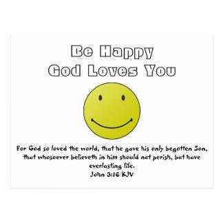 Smile Because God Loves You Postcard