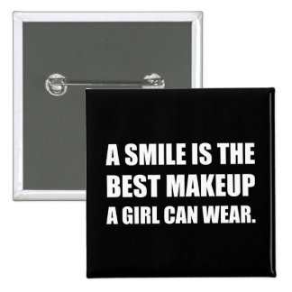 Smile Best Makeup 15 Cm Square Badge
