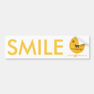 Smile bumper stiker car bumper sticker
