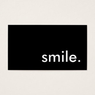smile. business card