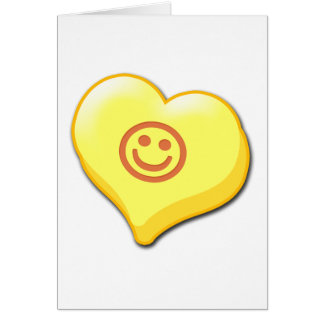 Smile Candy Heart Greeting Card