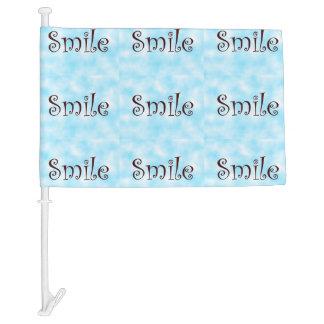 Smile-car tag car flag