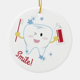 Smile! Ceramic Ornament