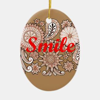 Smile Ceramic Oval Decoration