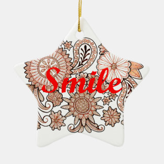 Smile Ceramic Star Decoration