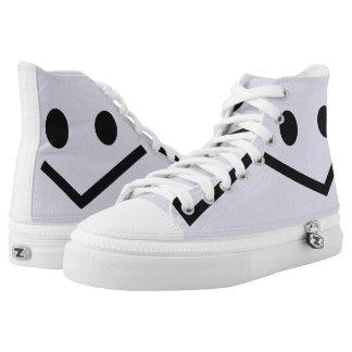 Smile: Check Printed Shoes