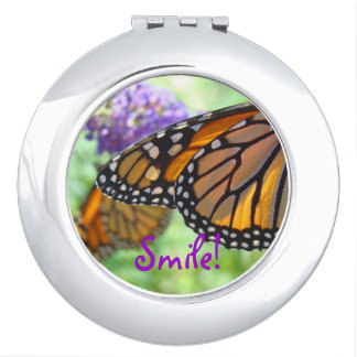 Smile! compact mirrors Monarch Butterflies