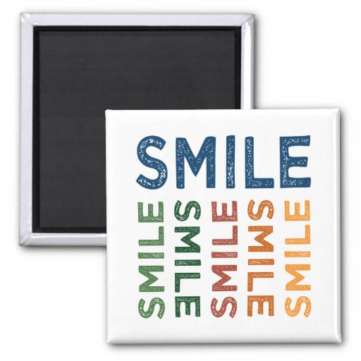 Smile Cute Colorful Magnet