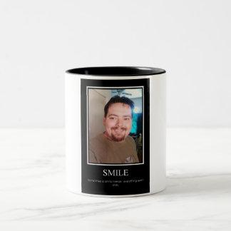 Smile demotivational poster mugs